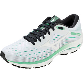 Mizuno Wave Rider 24 Shoes Women, white/white/jade cream